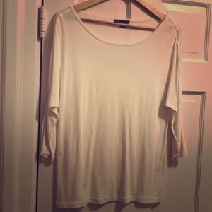 Vince cream colored top with accents on sleeve